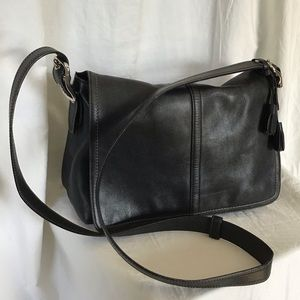 Coach Leather Flap Crossbody Bag 10204